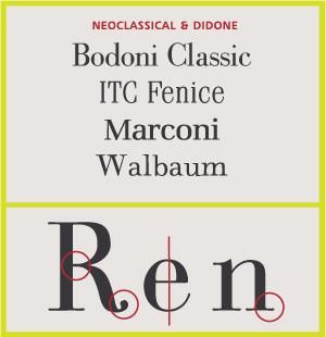 Neoclassic & Didone Serifs