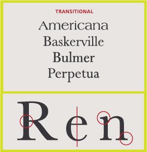 Transitional Serifs